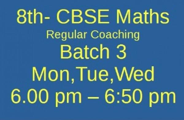 8th  CBSE MATHS Batch 3