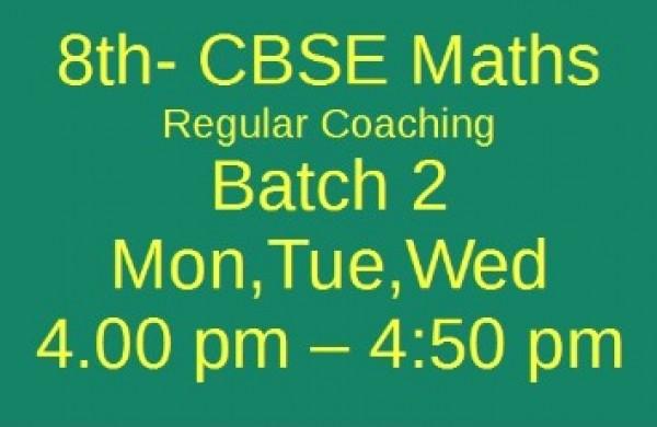 8th CBSE MATHS Batch 2