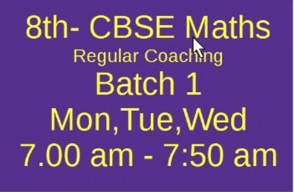 8th CBSE MATHS Batch 1