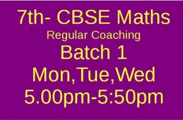 7th CBSE MATHS Batch 1